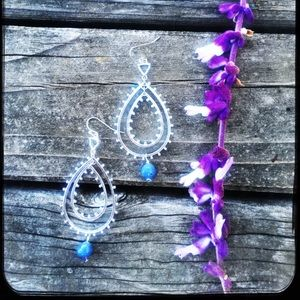 Periwinkle glass drops